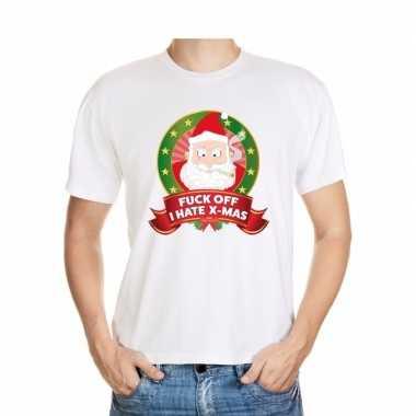 Boze kerstman trui wit fuck off i hate x mas voor man