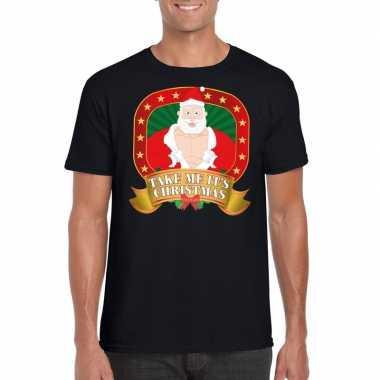 Boze kerstman trui zwart take me its christmas voor man