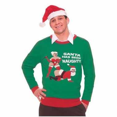 Christmas jumper naughty santa man