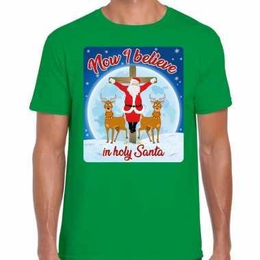 Fout kerst t trui now i believe groen voor man