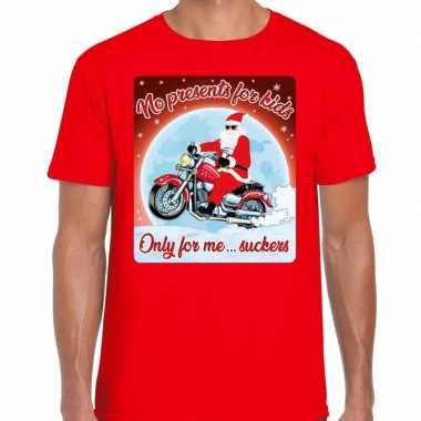 Fout kerst t trui voor motorliefhebbers no presents rood man