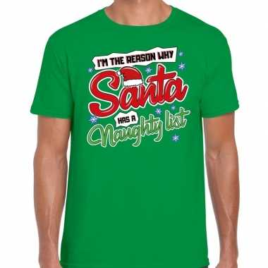 Fout kerstrui why santa has a naughty list groen voor man