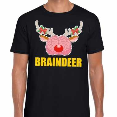 Foute kerst t trui braindeer zwart voor man