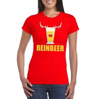Foute kerst t trui reinbeer rood voor dames man