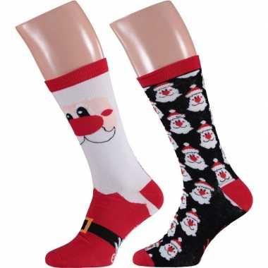 Foute kerstman kerstsokken 2 pak voor man