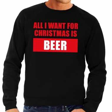 Foute kersttrui christmas beer zwart voor man