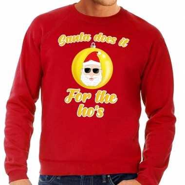 Kersttrui S.Foute Kersttrui Kerstman Does It For The Ho S Rood Voor Man