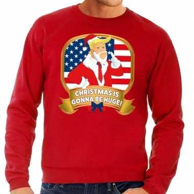 Foute kersttrui rood christmas is gonne be huge voor man
