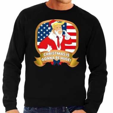 Foute kersttrui zwart christmas is gonne be huge voor man