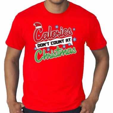 Grote maten foute kerstrui christmas calories rood man