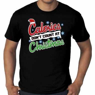 Grote maten foute kerstrui christmas calories zwart man