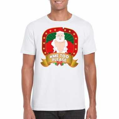 Horney kerstman trui wit hashtag me2 please voor man