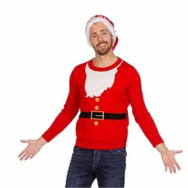 Kerst kado foute kersttrui kerstman voor man