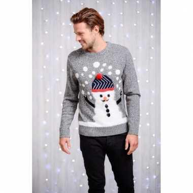 Kerstmis sweater met sneeuwman afbeelding