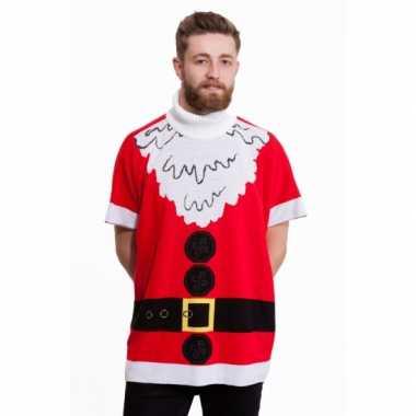 Man kerstmis poncho kerstman