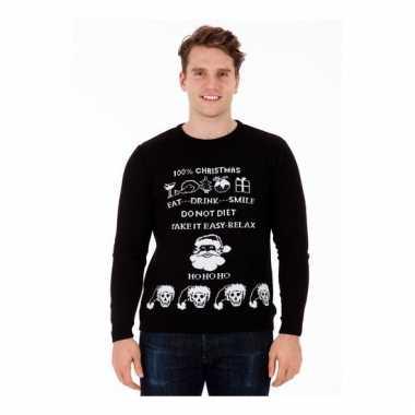 Foute Kersttrui Tekst.Man Kerstmis Trui Evil Christmas Kersttrui Man Nl
