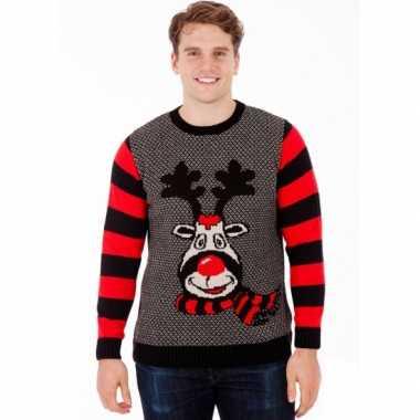 Man kerstmis trui rudy reindeer