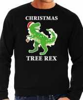 Christmas tree rex kersttrui outfit zwart voor man