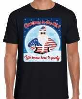 Fout amerika kerstrui christmas in usa zwart voor man