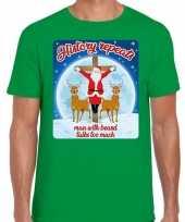 Fout kerst trui history repeats groen voor man
