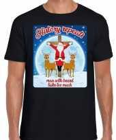 Fout kerst trui history repeats zwart voor man