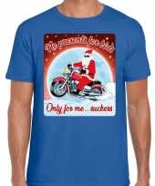 Fout kerst trui voor motorliefhebbers no presents blauw man
