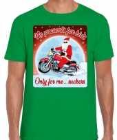 Fout kerst trui voor motorliefhebbers no presents groen man