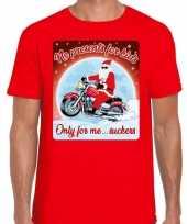 Fout kerst trui voor motorliefhebbers no presents rood man