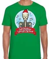 Fout kerstrui last christmas i gave you my heart groen man