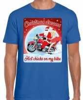 Fout kerstrui voor motorliefhebbers hot chicks blauw man