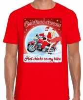 Fout kerstrui voor motorliefhebbers hot chicks rood man