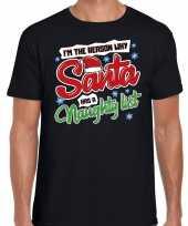 Fout kerstrui why santa has a naughty list zwart voor man