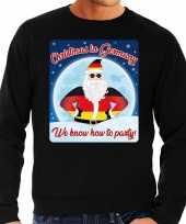 Foute duitsland kersttrui christmas in germany zwart voor man