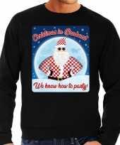 Foute kersttrui christmas in brabant zwart voor man