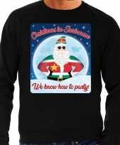 Foute kersttrui christmas in suriname zwart voor man