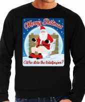 Foute kersttrui merry shitmas zwart voor man 10172402