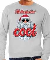 Foute kersttrui stoere kerstman motherfucking cool grijs man