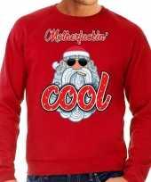 Foute kersttrui stoere kerstman motherfucking cool rood man