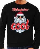 Foute kersttrui stoere kerstman motherfucking cool zwart man