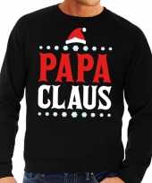 Foute kersttrui zwart papa claus voor man