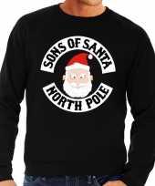 Foute kersttrui zwart sons of santa voor man