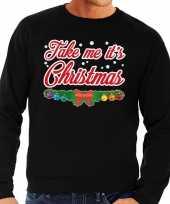 Foute kersttrui zwart take me its christmas voor man 10129996
