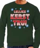 Foute lelijke kerst trui groen voor man