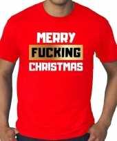Grote maten fout kerstrui merry fucking christmas rood man