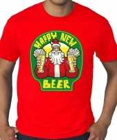 Grote maten nieuwjaar trui happy new beer bier rood man