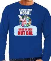 Kut kerstbal kersttrui kerst outfit ik vroeg om een mobiel krijg ik deze kut bal blauw voor man