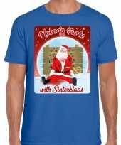 Sinterklaas kerst trui nobody fucks with sinterklaas man
